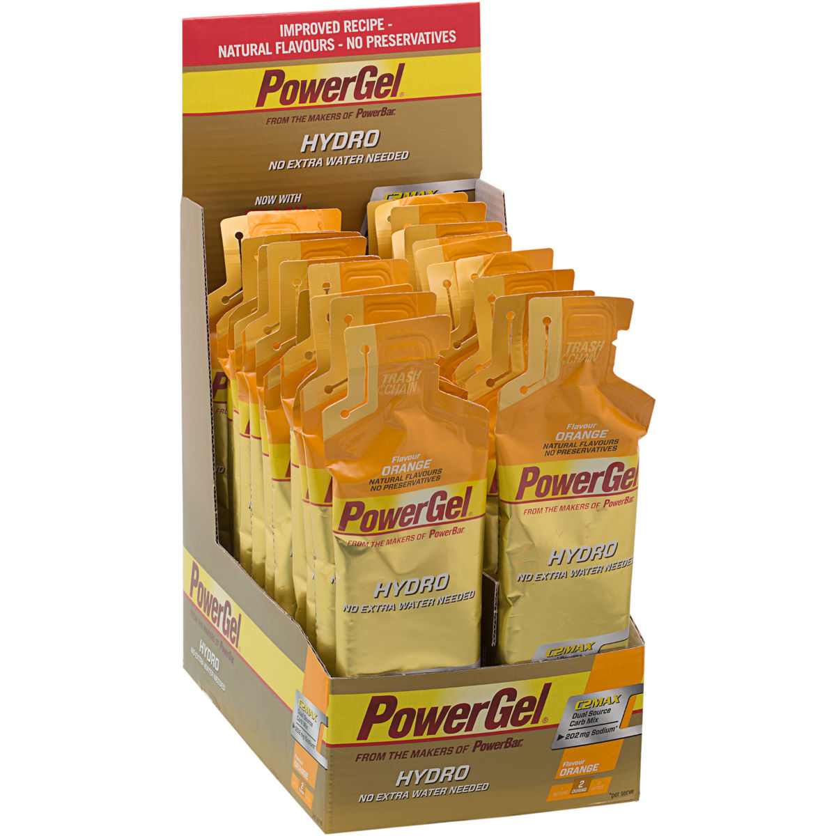 Gels PowerBar PowerGel Hydro (24 x 70 g) - 24 x 70g 21-30 Orange