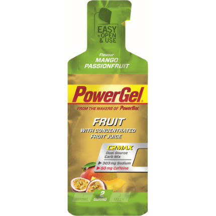 Gels PowerBar (fruit, caféine, 24 x 41 g)