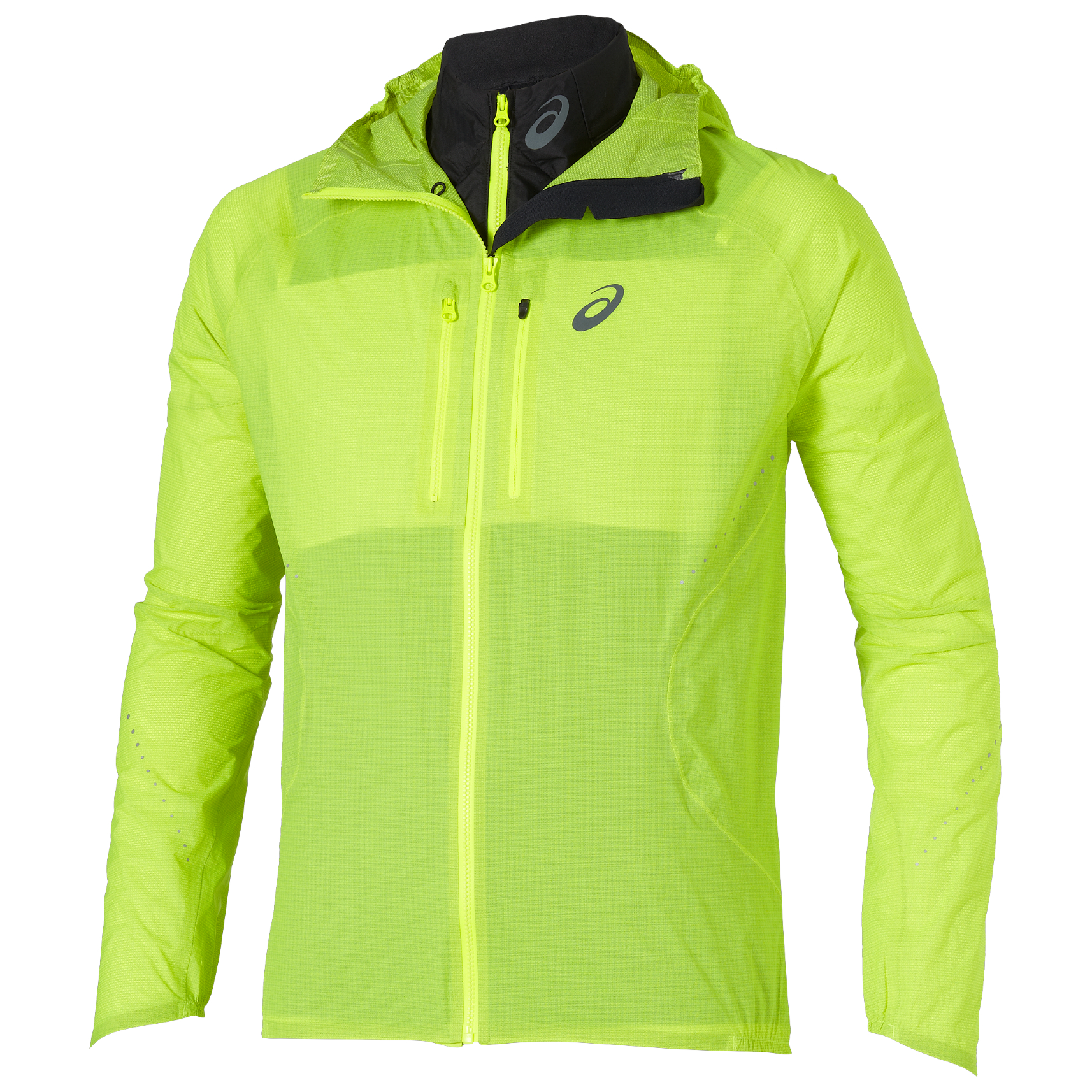 asics packable jacket womens yellow