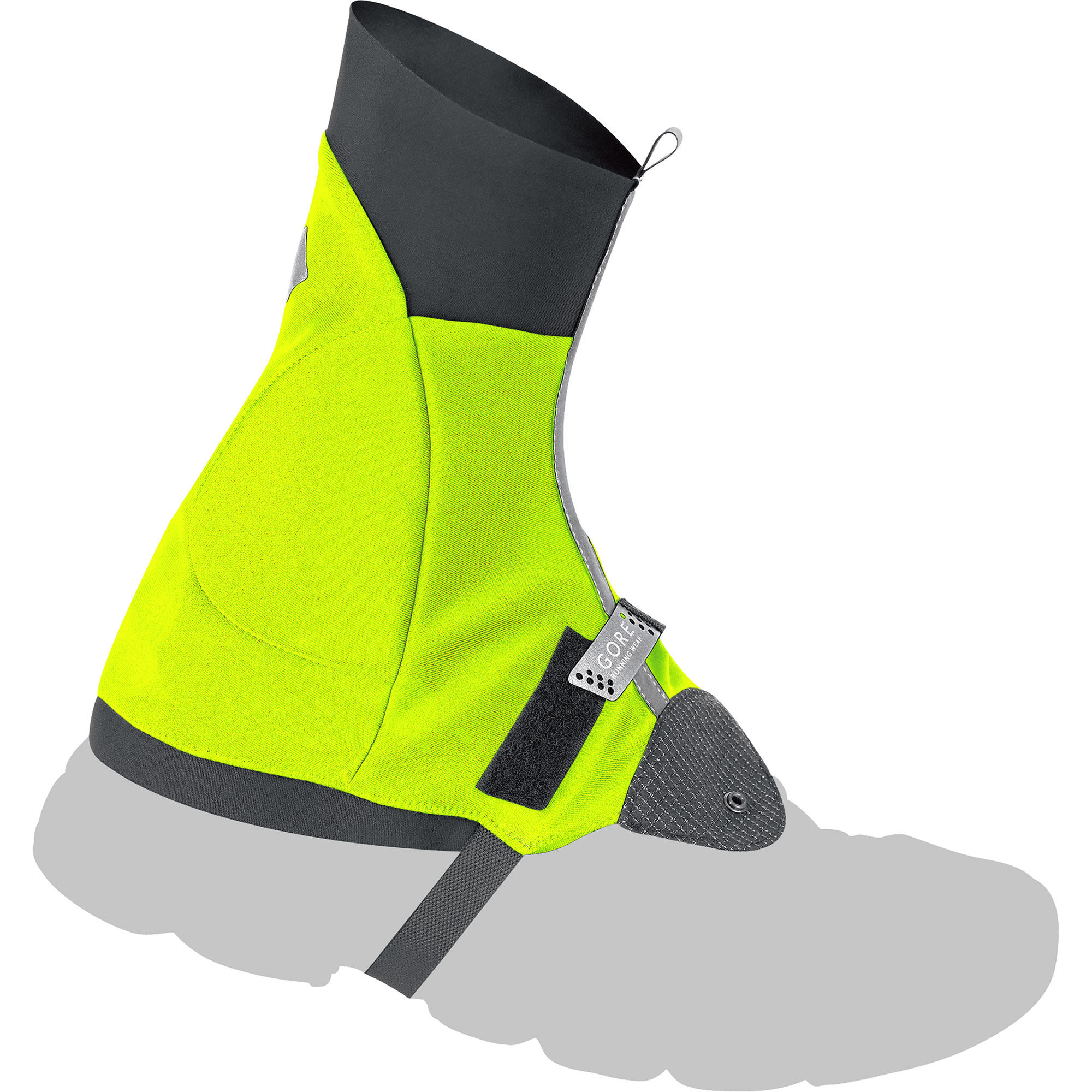 Black And Neon Yellow Running Shoes