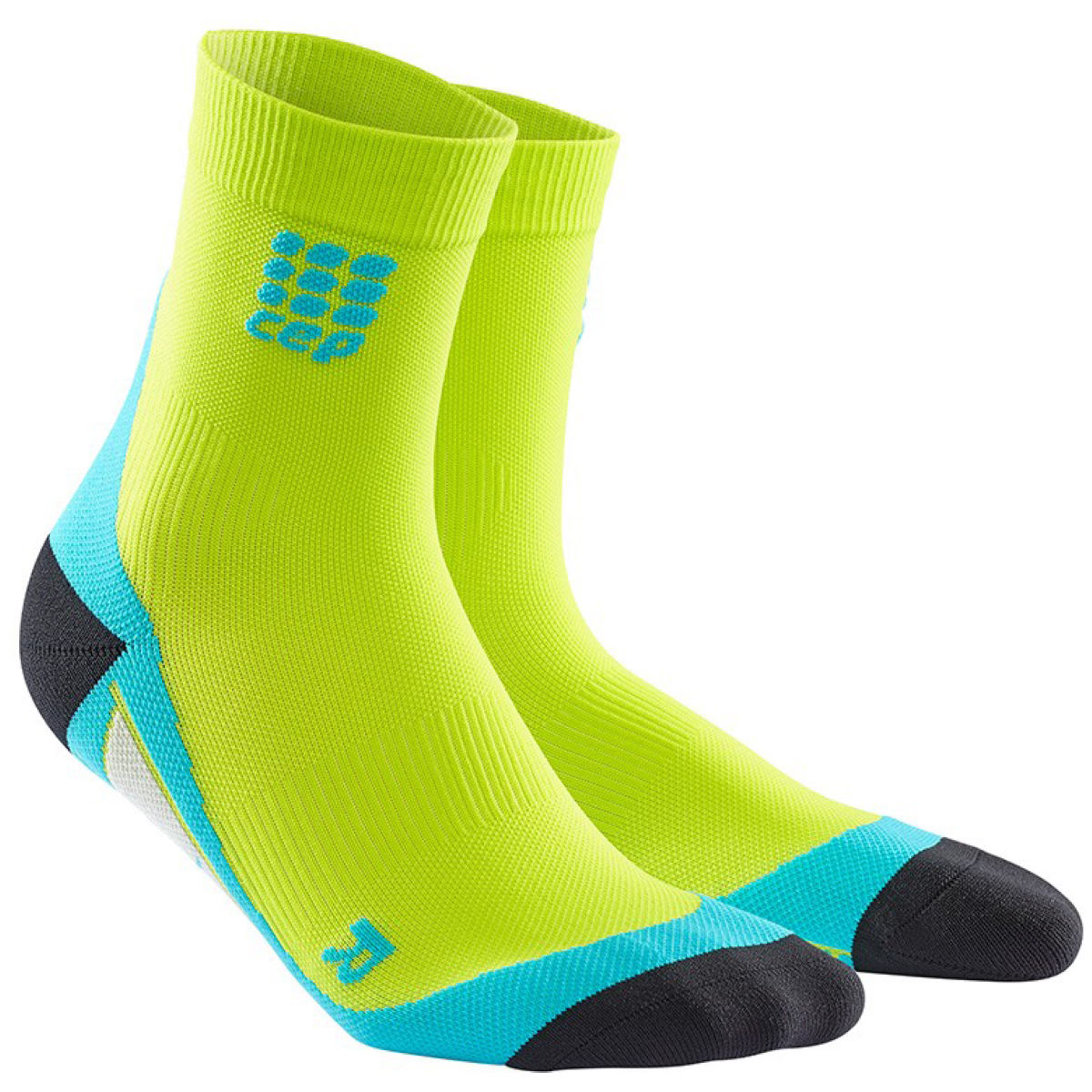 Chaussettes CEP Short - III Lime/Hawaii Blue Chaussettes