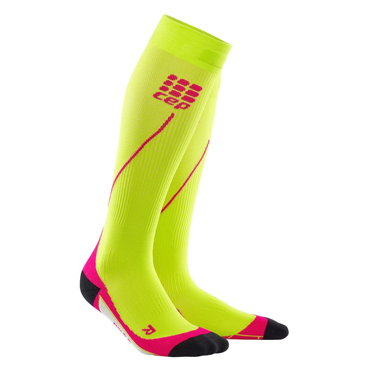 Chaussettes Femme CEP 2.0 (running, compression) - II Lime/Pink