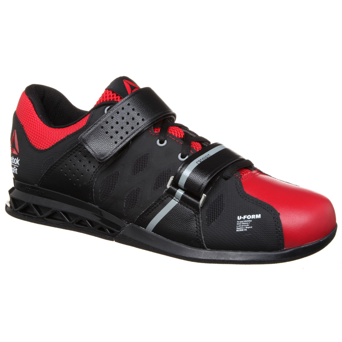 Chaussures Reebok CrossFit Lifter Plus 2.0 (AH16) - 10 UK Black/Red/Grey Chaussures d'entraînement
