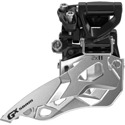 SRAM GX 2x11 MTB voorderailleur met medium klemband (direct mount aansluiting)