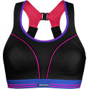 Shock Absorber Ultimate Run Bra - Black/Pink