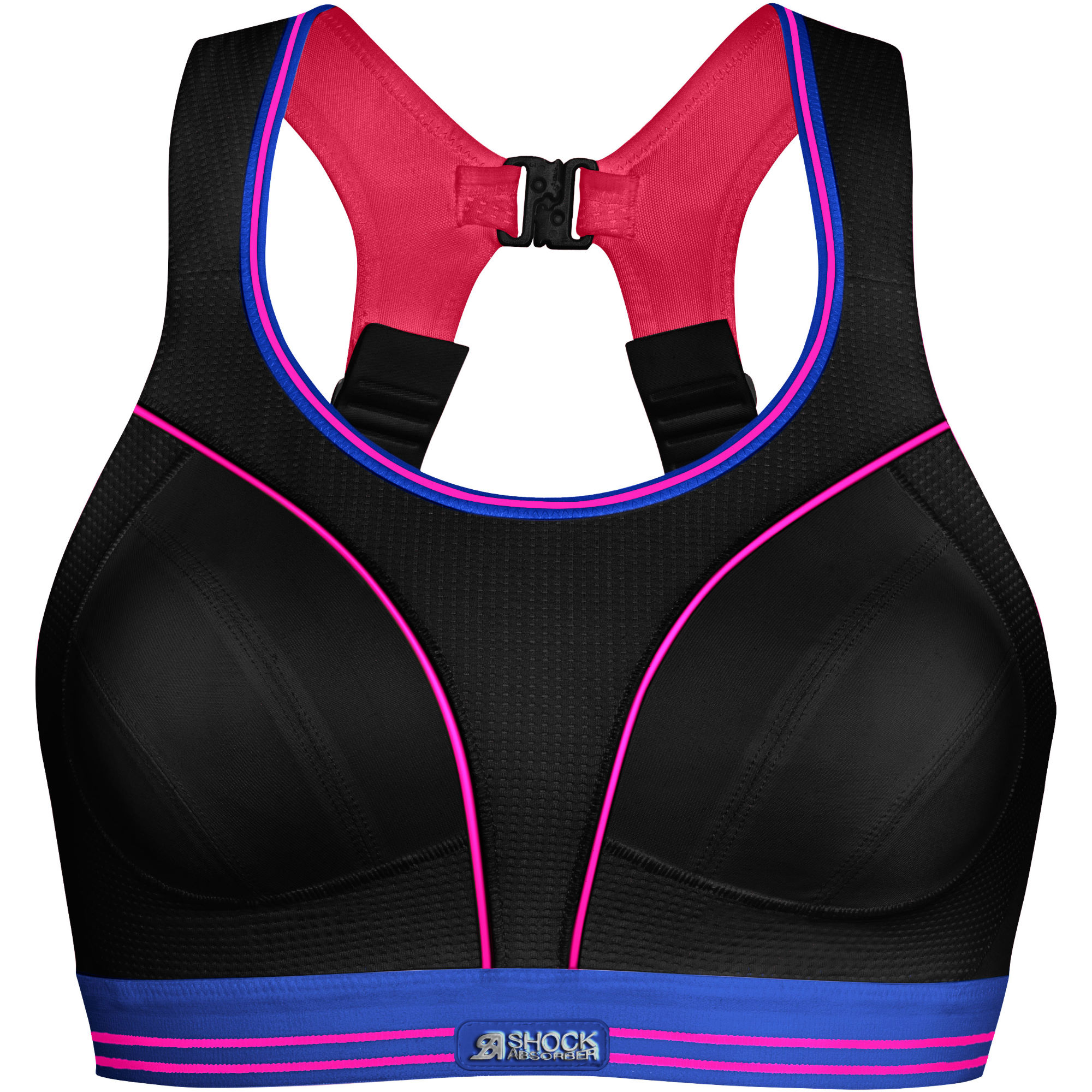 wiggle shock absorber ultimate run bra black pink. Black Bedroom Furniture Sets. Home Design Ideas