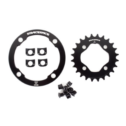 Race Face Narrow Wide Chainring (24 Tooth) with Bash Guard