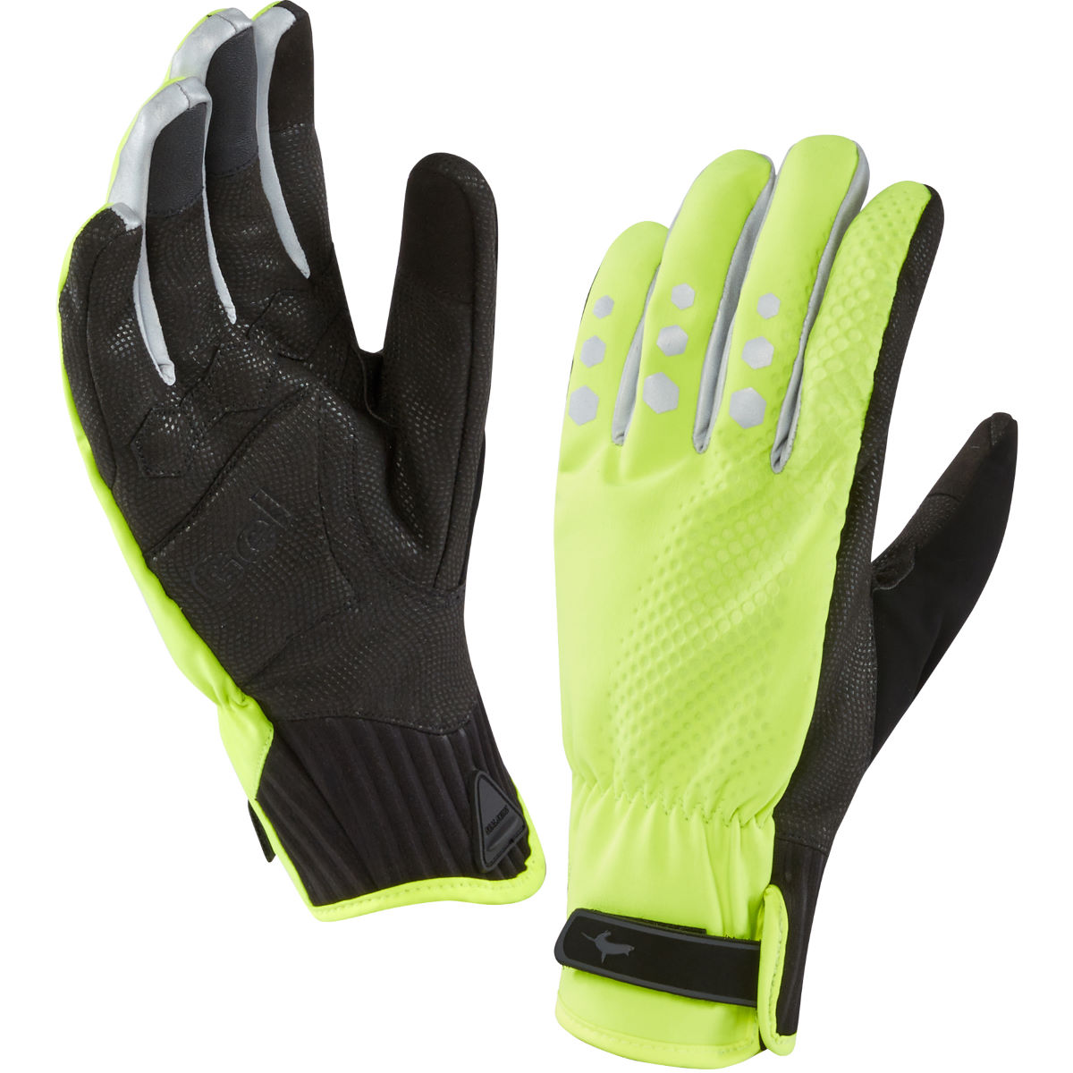 Gants vélo SealSkinz All Weather XP - Small Hi Vis Yellow/Black