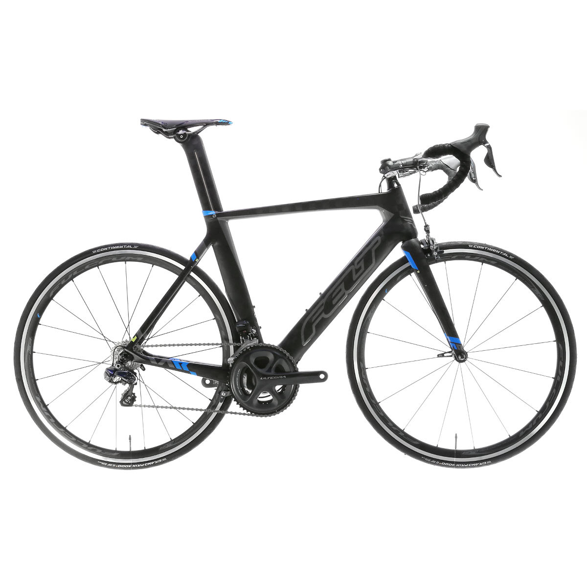 Vélo de route Felt AR2 (2017) - 54cm Carbon/Blue/Yellow Vélos de route