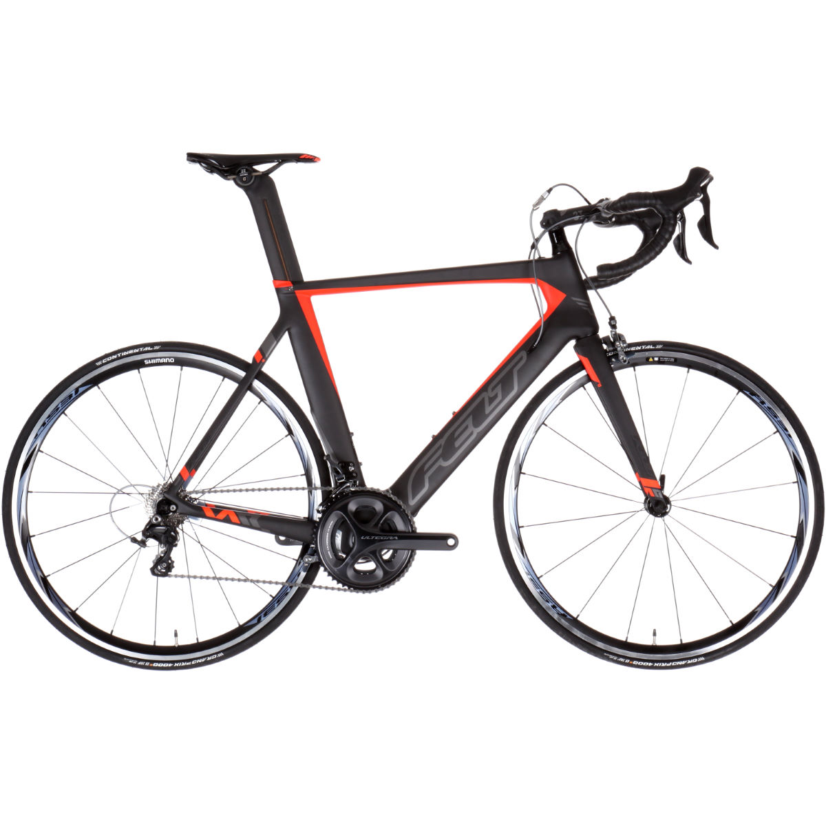 Vélo de route Felt AR3 (2017) - 56cm Stock Bike Noir/Orange