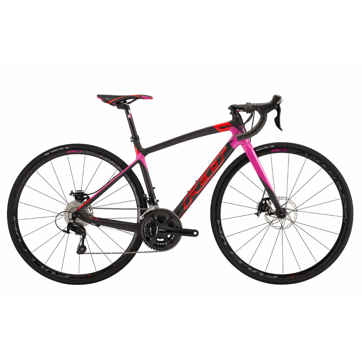 Vélo de route Felt ZW4 (disque, 2016) - 50cm Carbon/Red/Purple Vélos de route