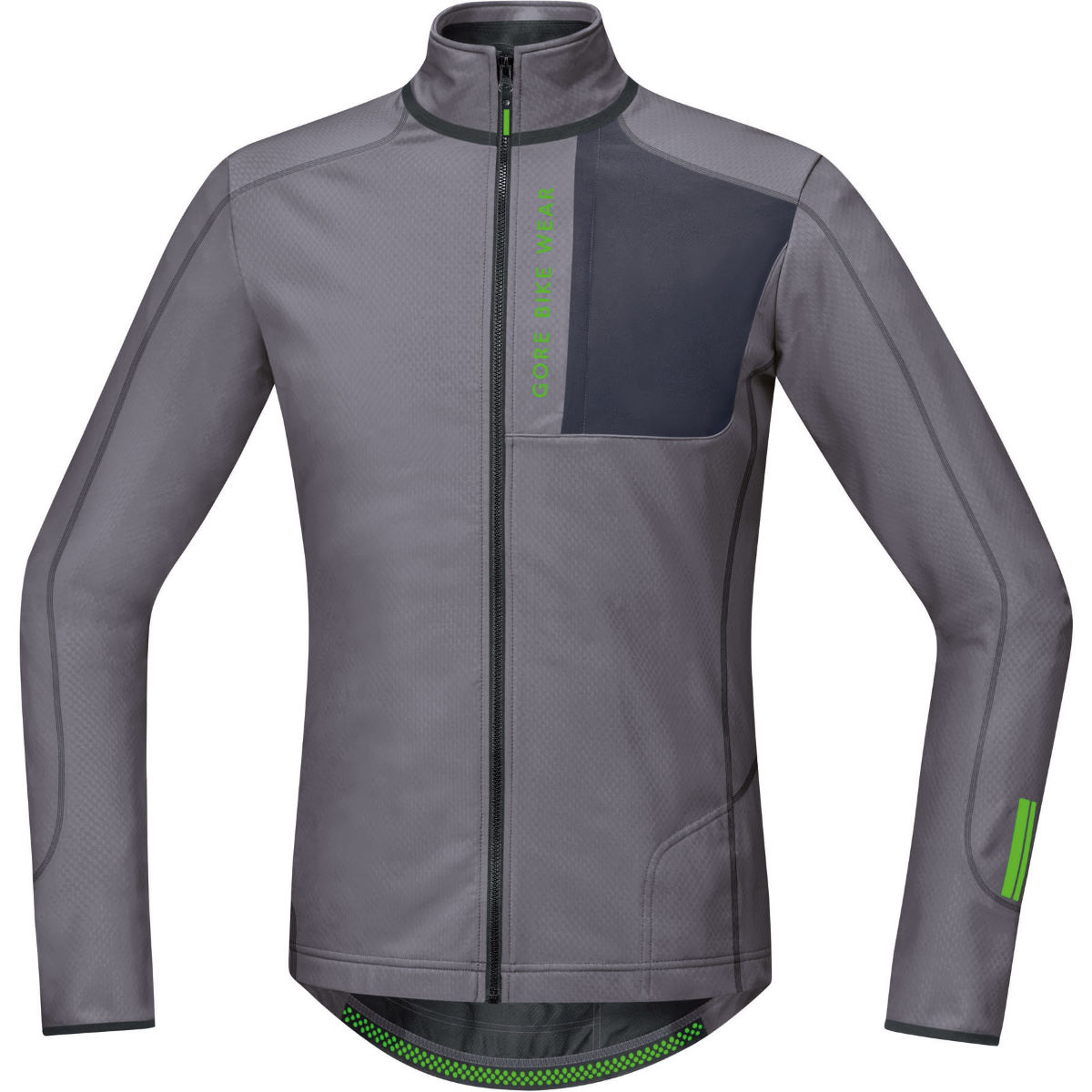 Maillot Gore Bike Wear Power Trail Thermo (manches longues) - S Asteroid Grey Maillots vélo à manches longues