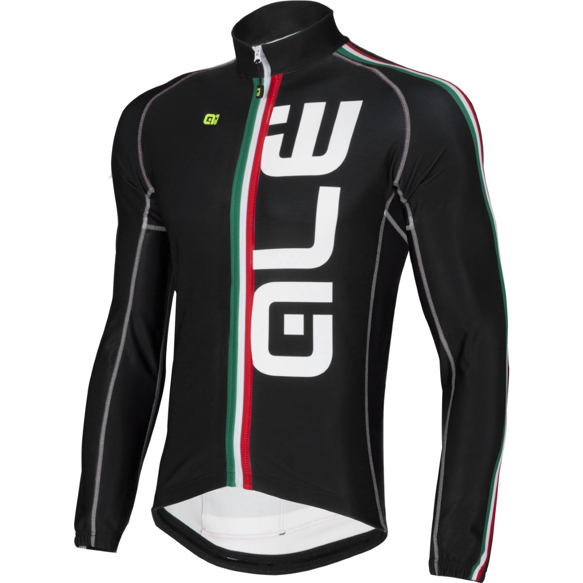 Maillot cycliste Alé Italia Ultra Canale (manches longues, exclusivité) - Small Black/Italia Maillots vélo à manches longues