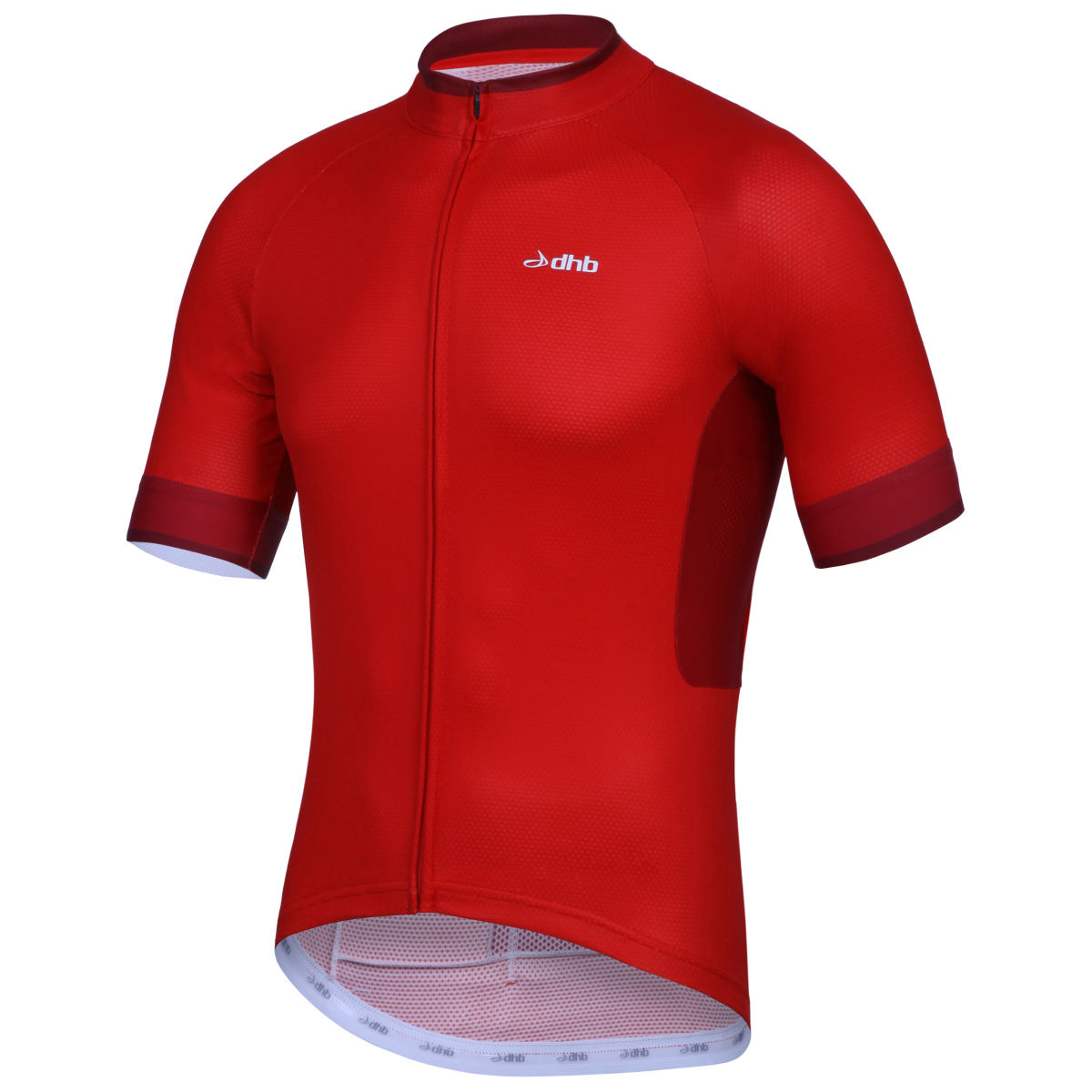 Maillot dhb Aeron (manches courtes) - XL Red/Red Maillots vélo à manches courtes