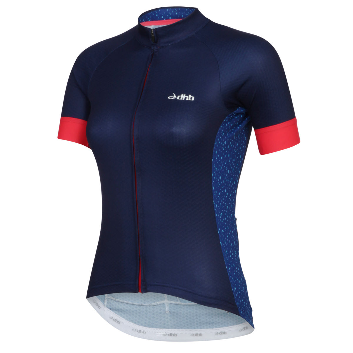 Maillot Femme dhb Aeron (manches courtes) - 10 UK Navy/Red/Print