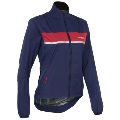 dhb Chaqueta dhb Classic Rain Shell para mujer - Impermeables - ciclismo Navy/Pink 10 UK