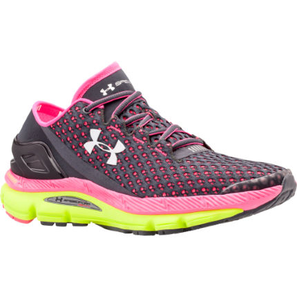 Black And Pink Under Armour Running Shoes