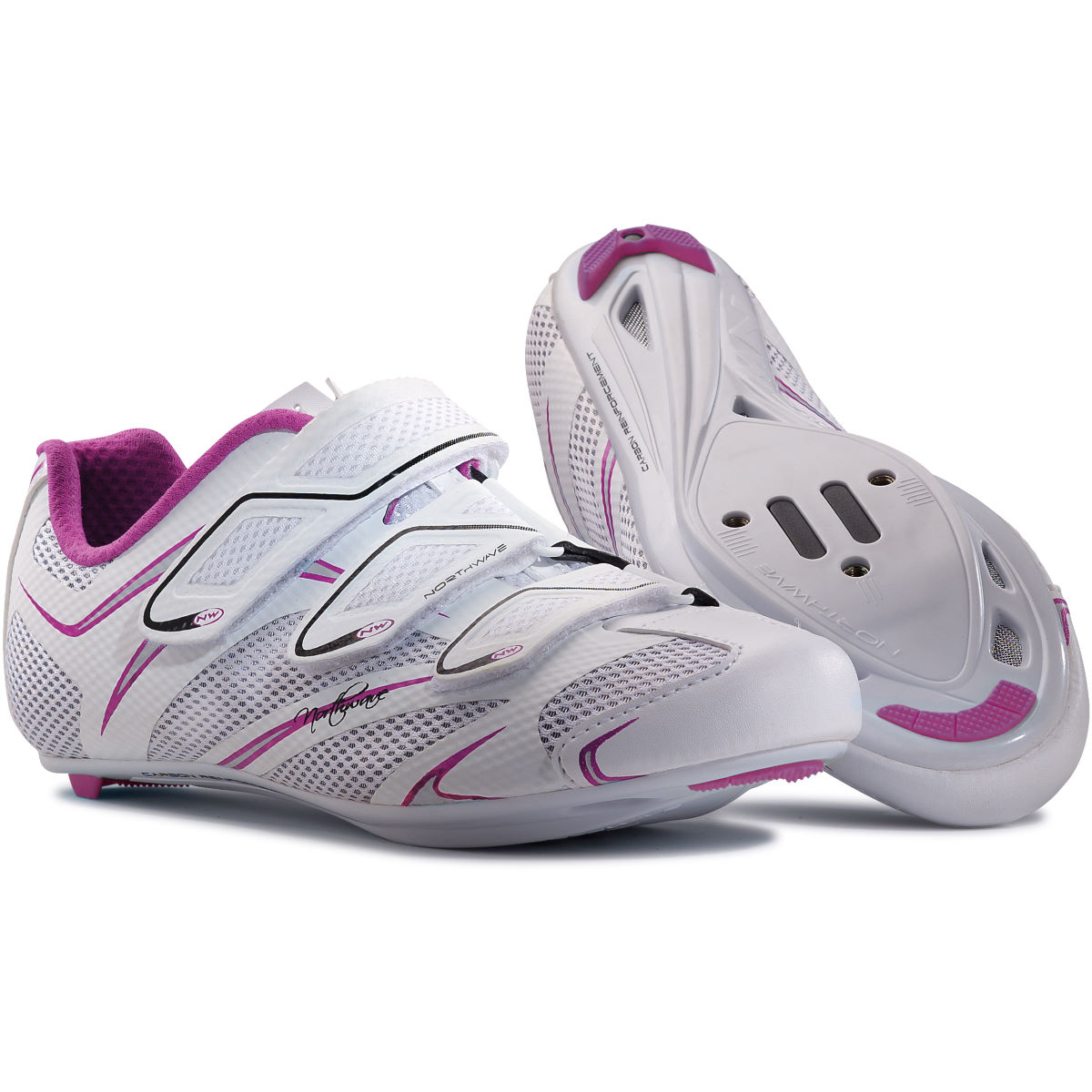 Chaussures de route Femme Northwave Starlight 3S (blanches/violettes)