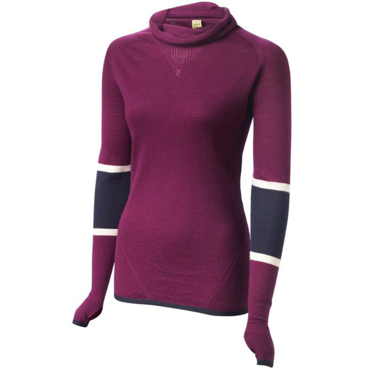 Maillot Femme FINDRA Marin (col roulé, rayé) - L Eggplant Maillots