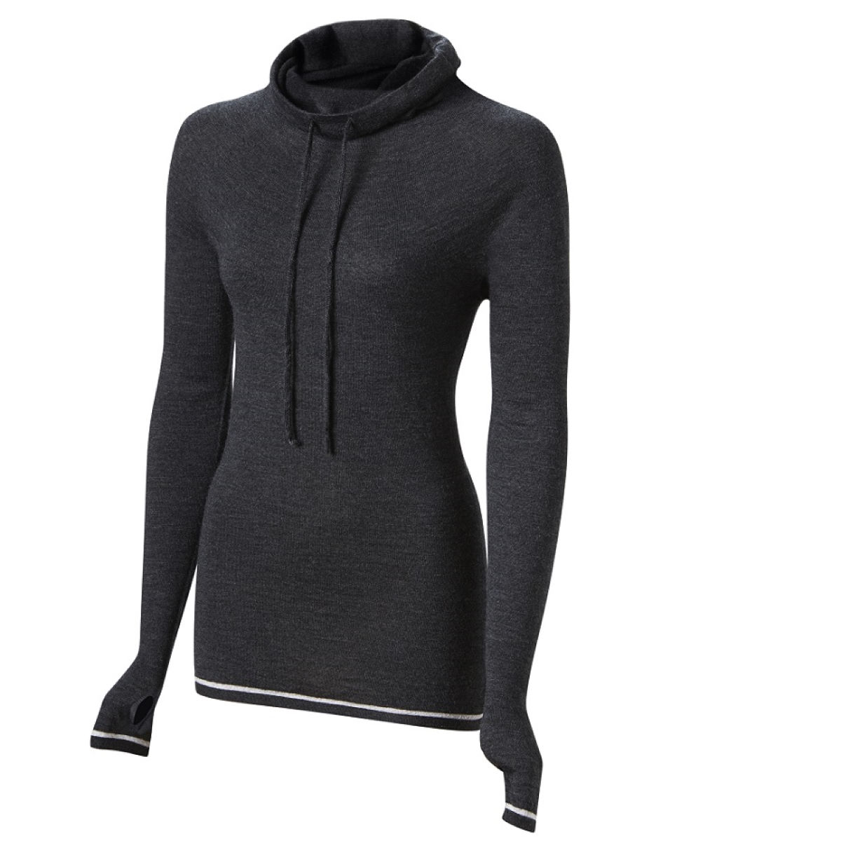 Maillot Femme FINDRA Caddon (col roulé) - XS Charcoal/Grey Marl