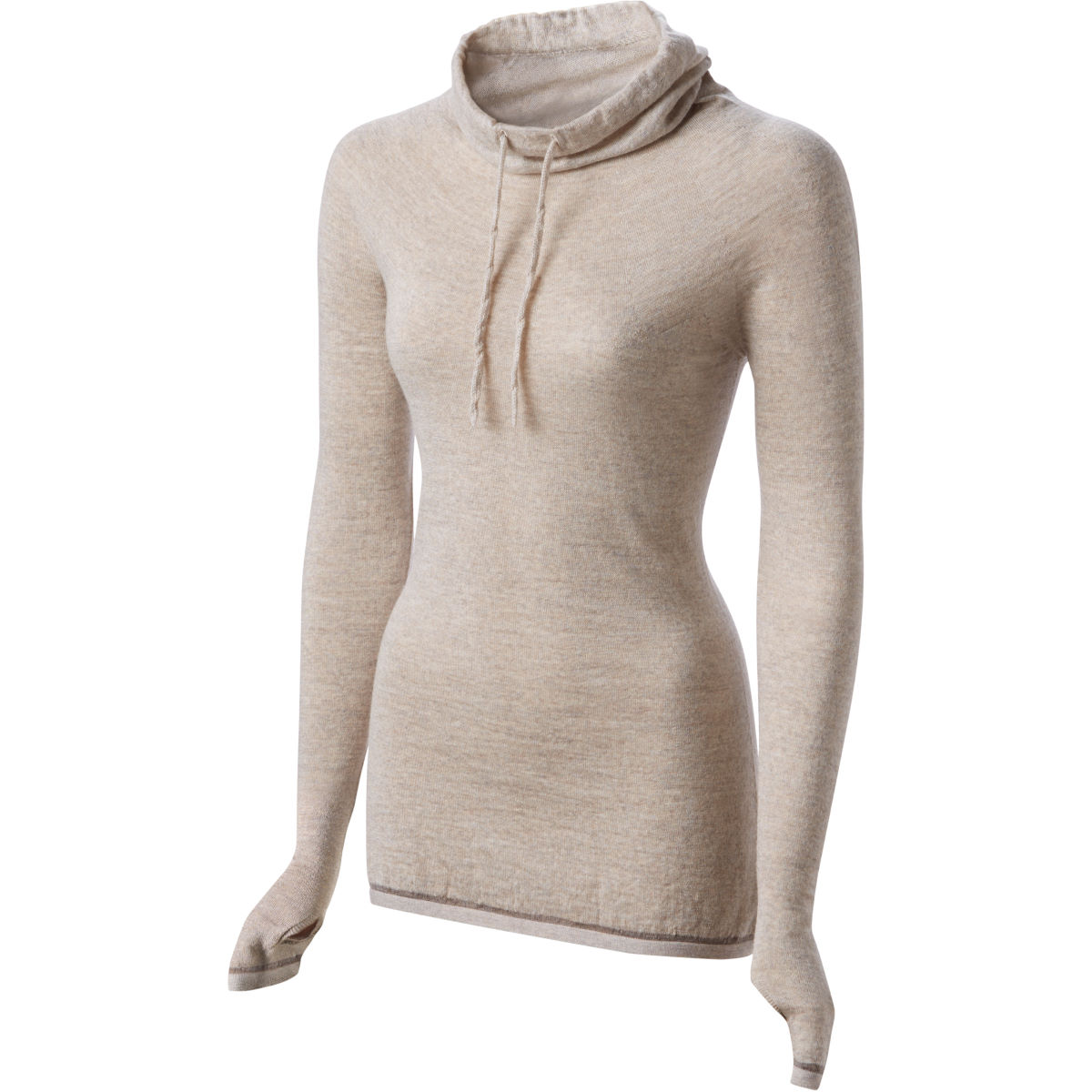 Maillot Femme FINDRA Caddon (col roulé) - XS Oatmeal/Pebble Maillots