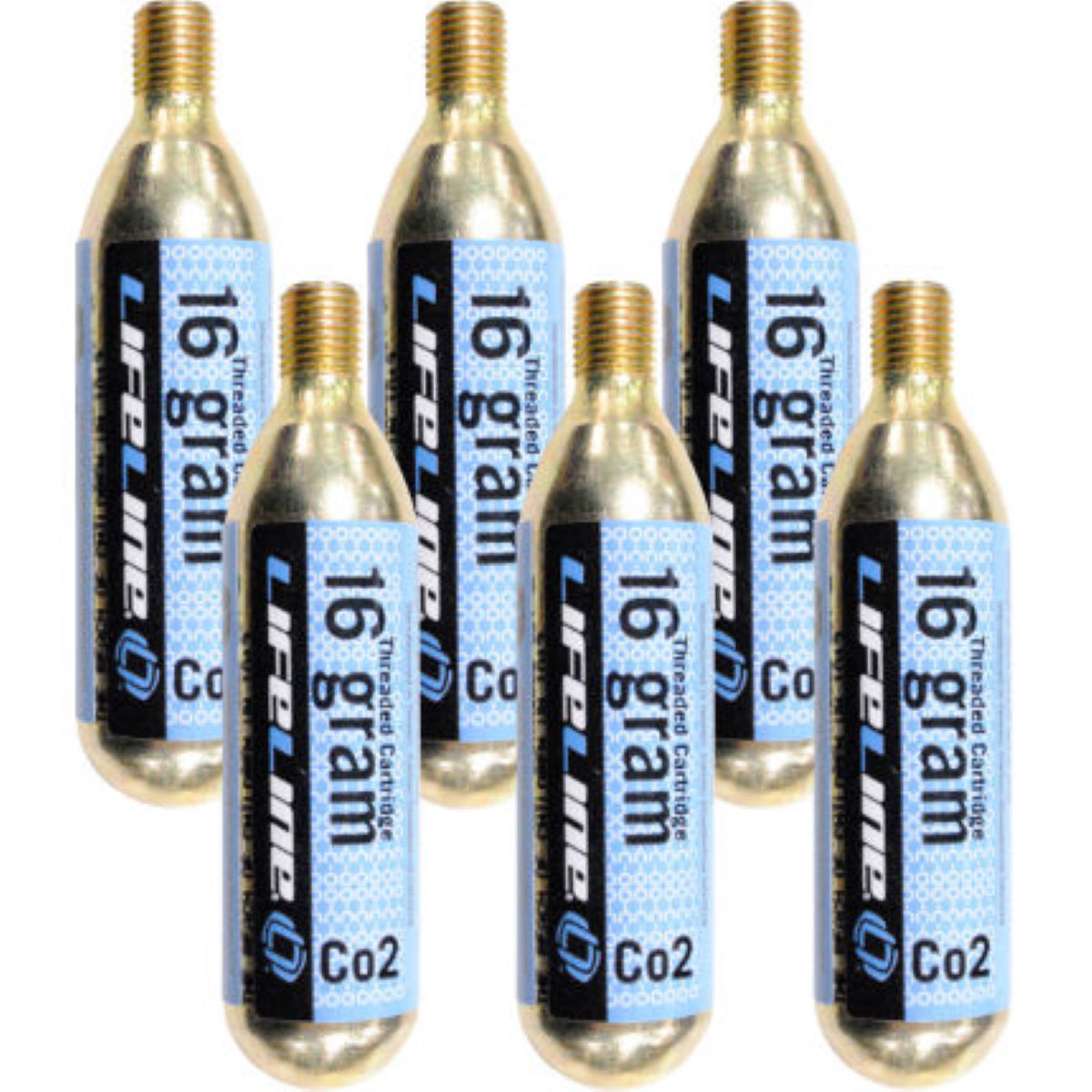 LifeLine 16g CO2 Inflator Cartridges - Pack of 6