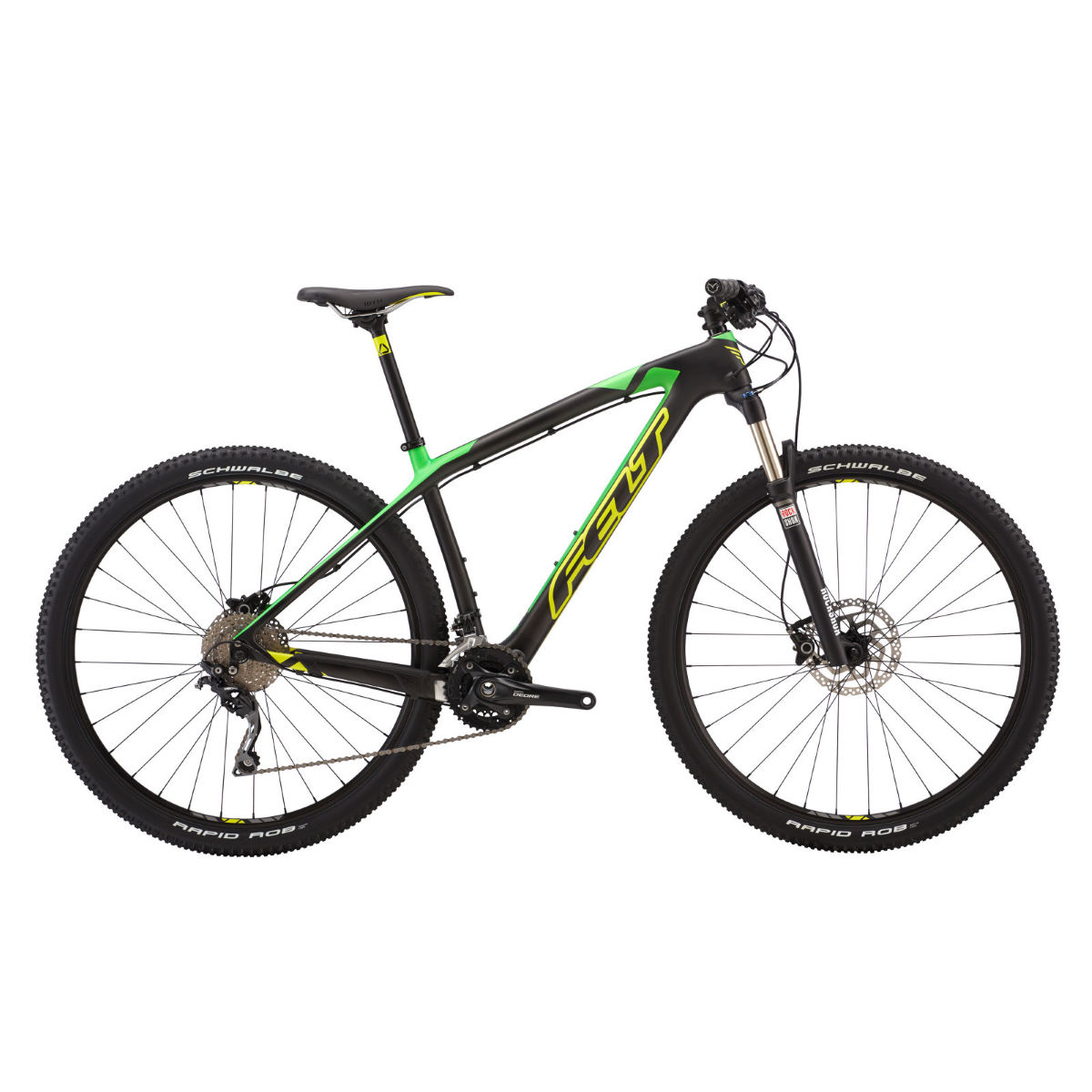 VTT Felt Nine 5 (2016) - 20'' Carbon/Green VTT semi-rigides