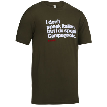 T-shirt Velolove I don't speak Italian (biologique)