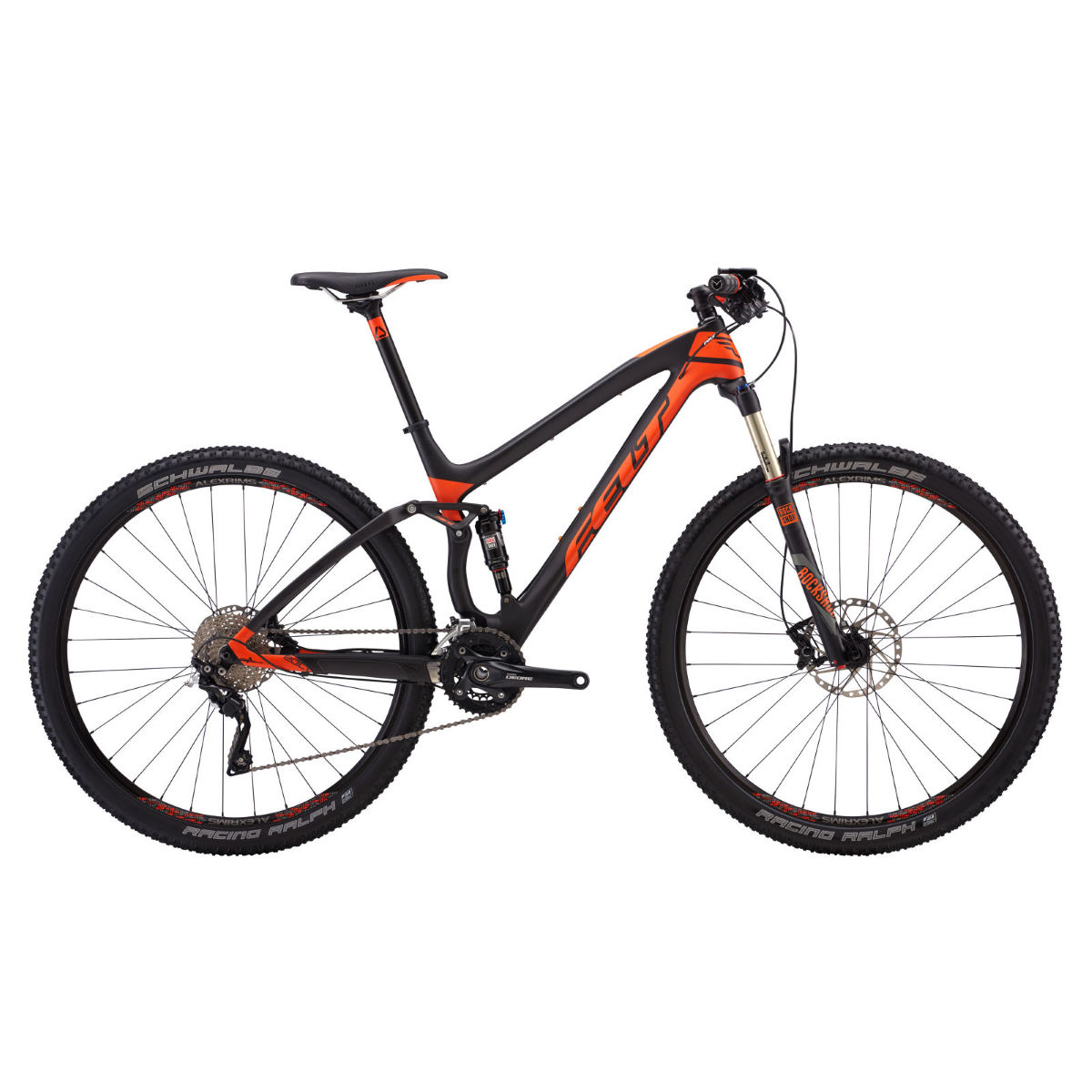 VTT Felt Edict 3 (2017) - 16'' Carbon/Orange VTT tout suspendu