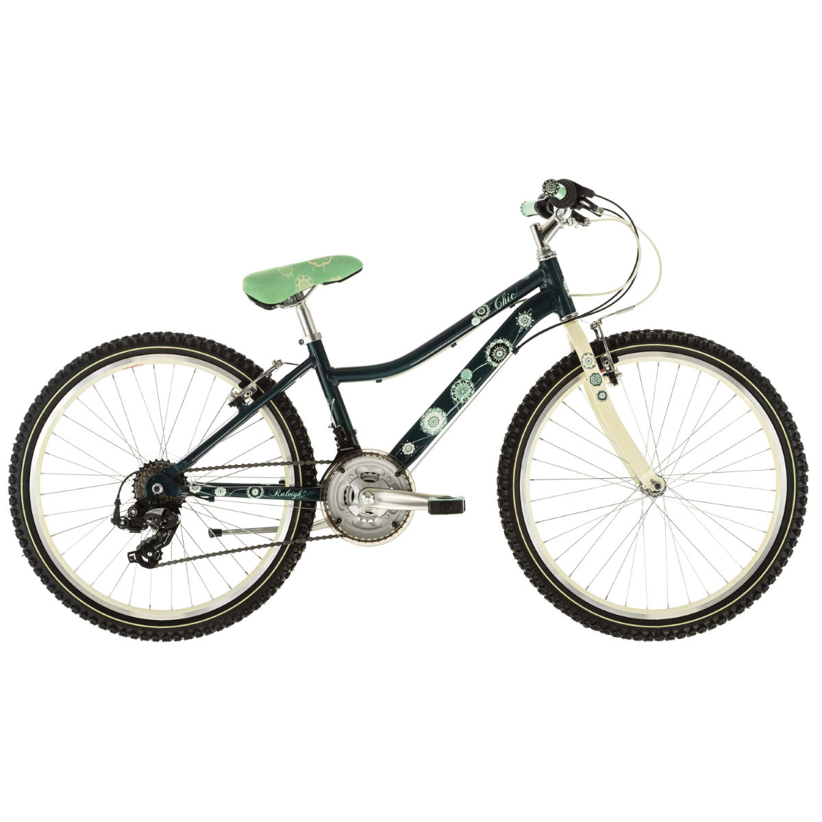 Vélo Enfant Raleigh CHIC 24 (2016) - 24'' Wheel Green/Cream