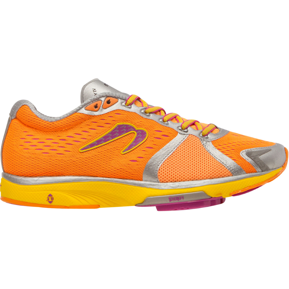 Chaussures Femme Newton Running Gravity IV Neutral (AH15) - 4,5 UK Orange /Yellow/Pink Chaussures de running amorties