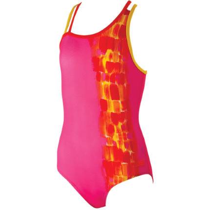 Costume bambina Zoggs Sunset Splash (retro incrociato, prim/estate16)