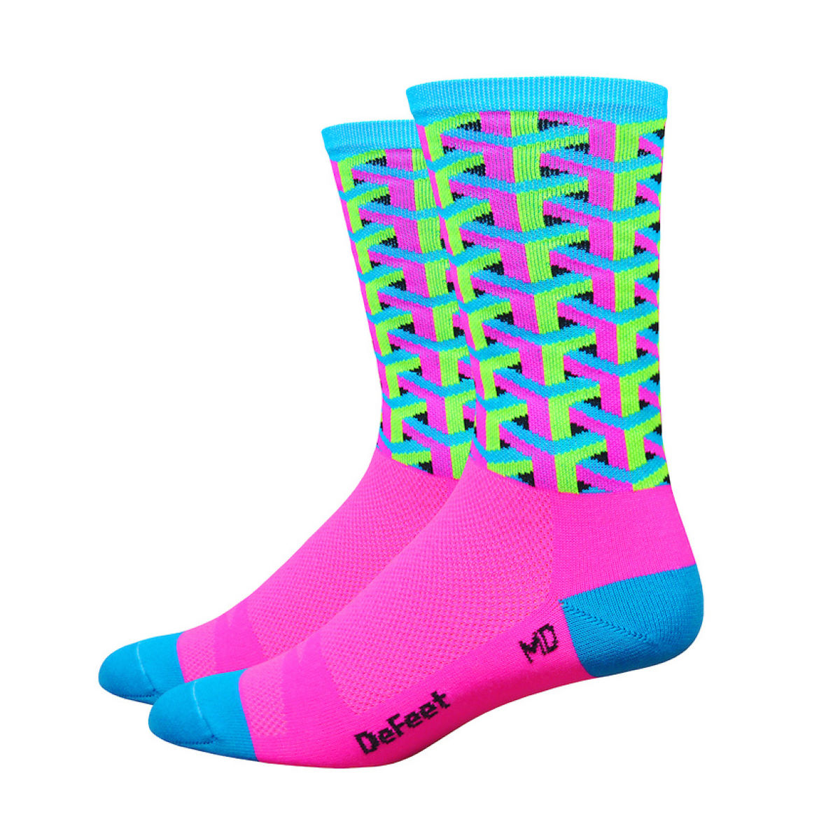 Chaussettes DeFeet Framework - Small Rose Chaussettes vélo