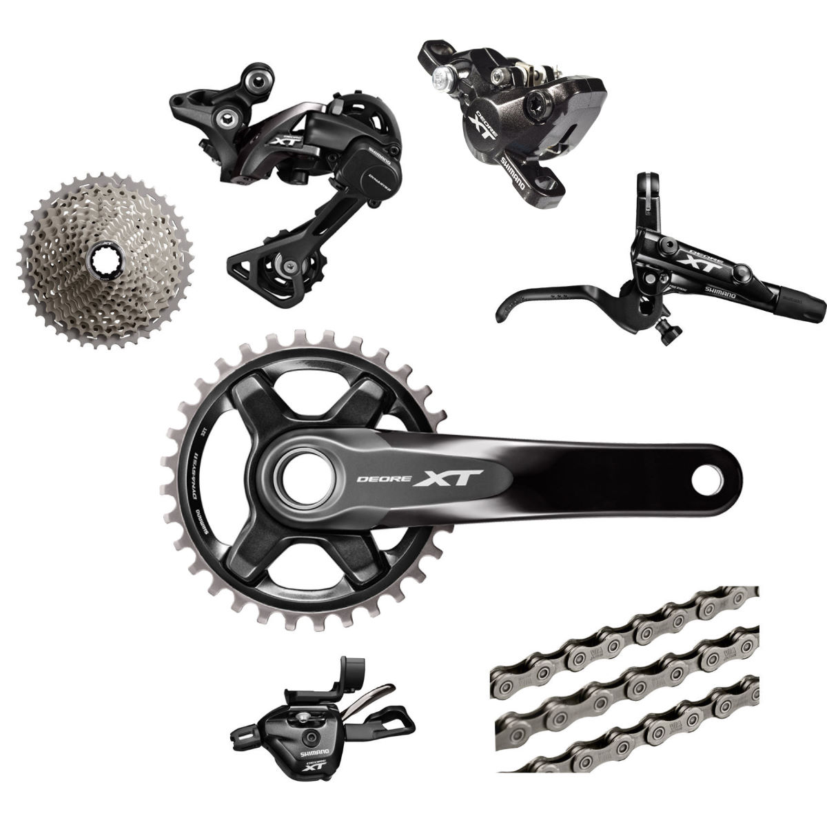 Shimano Deore XT M8000 11 Speed Groupset (1x11) Groupsets ...