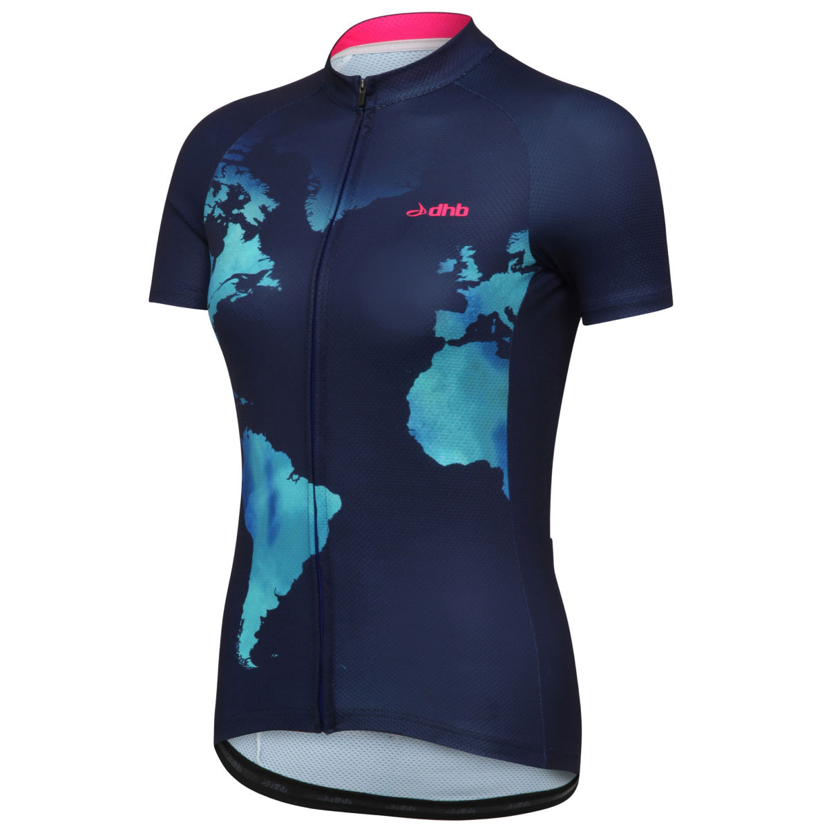 dhb Global Edition Women's Short Sleeve Jersey - UK 8 Blue/Green