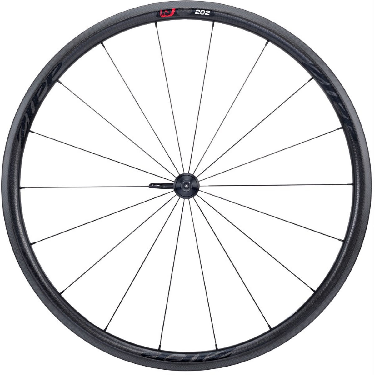 Roue avant Zipp 202 Firecrest (carbone, tringle) - 700c - Clincher Noir/Noir Roues performance