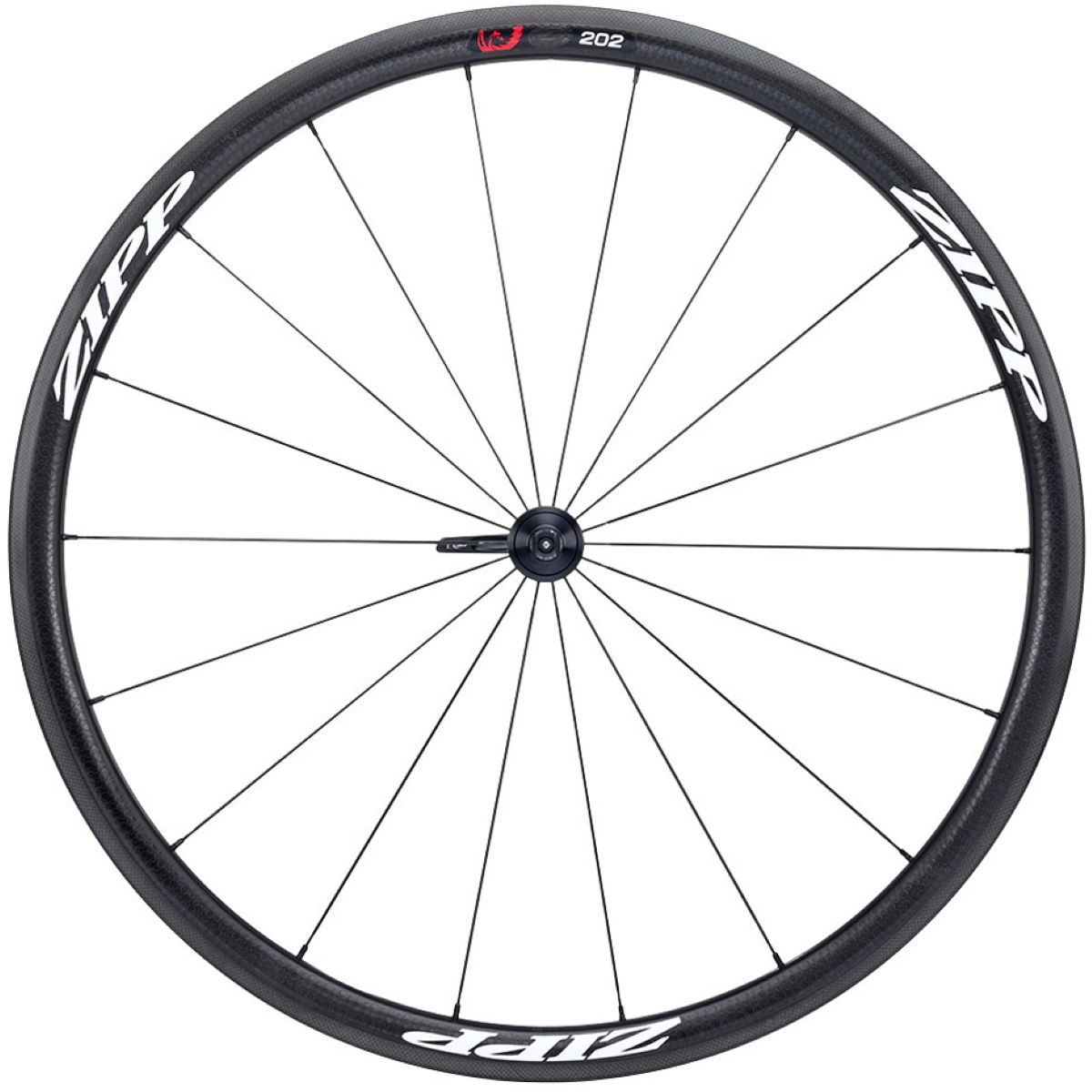 Roue avant Zipp 202 Firecrest (carbone, tringle) - 700c - Clincher Noir/Blanc Roues performance