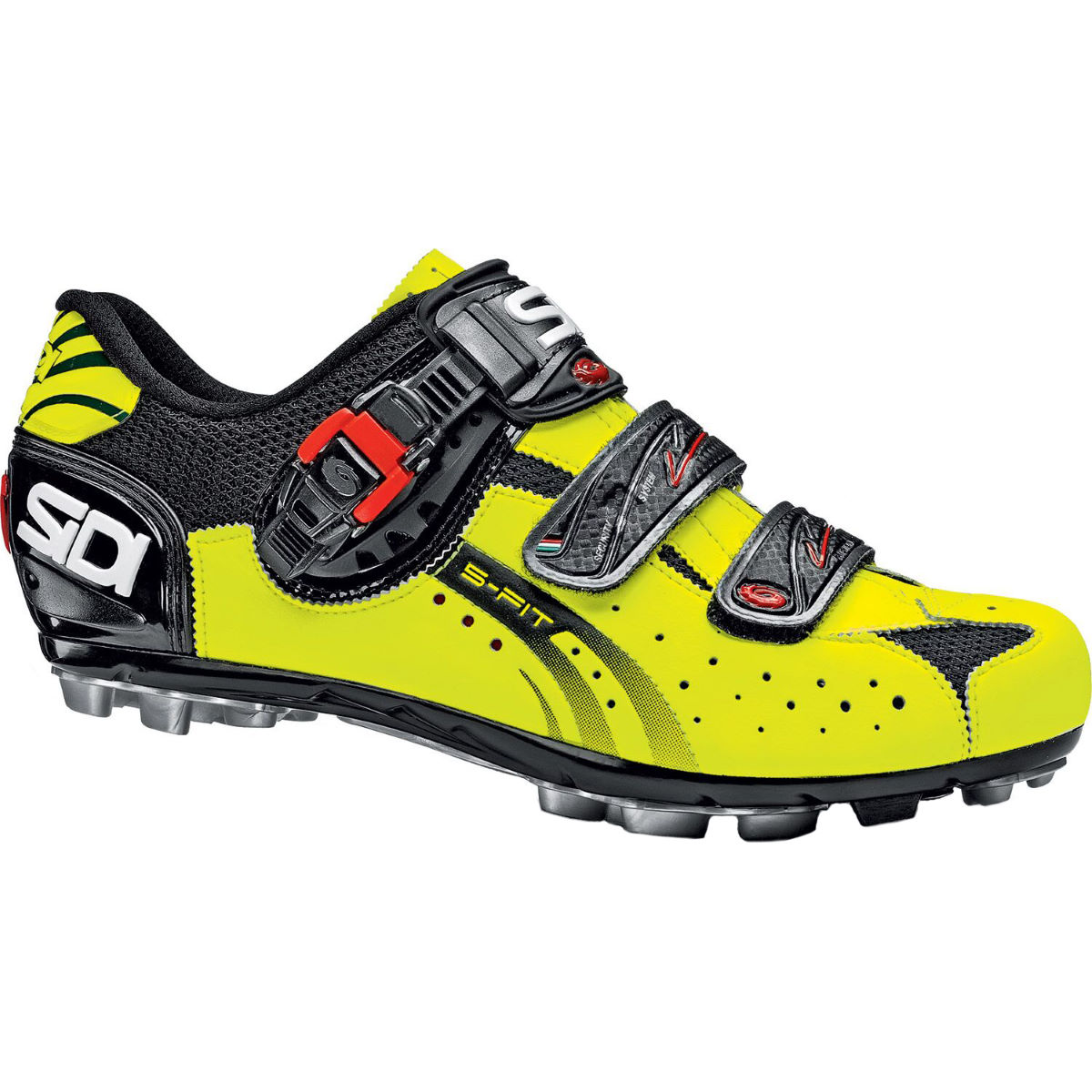 Chaussures VTT Sidi Eagle 5-Fit - 37 Black/Yellow Fluo