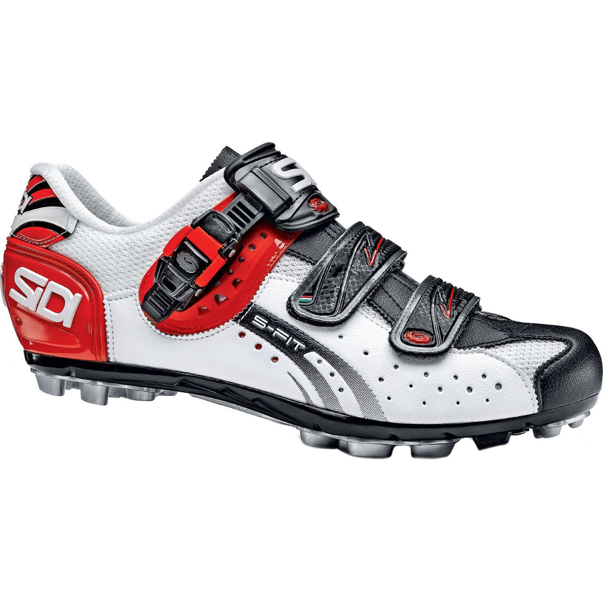 Chaussures VTT Sidi Eagle 5-Fit - 38 White/Black/Red