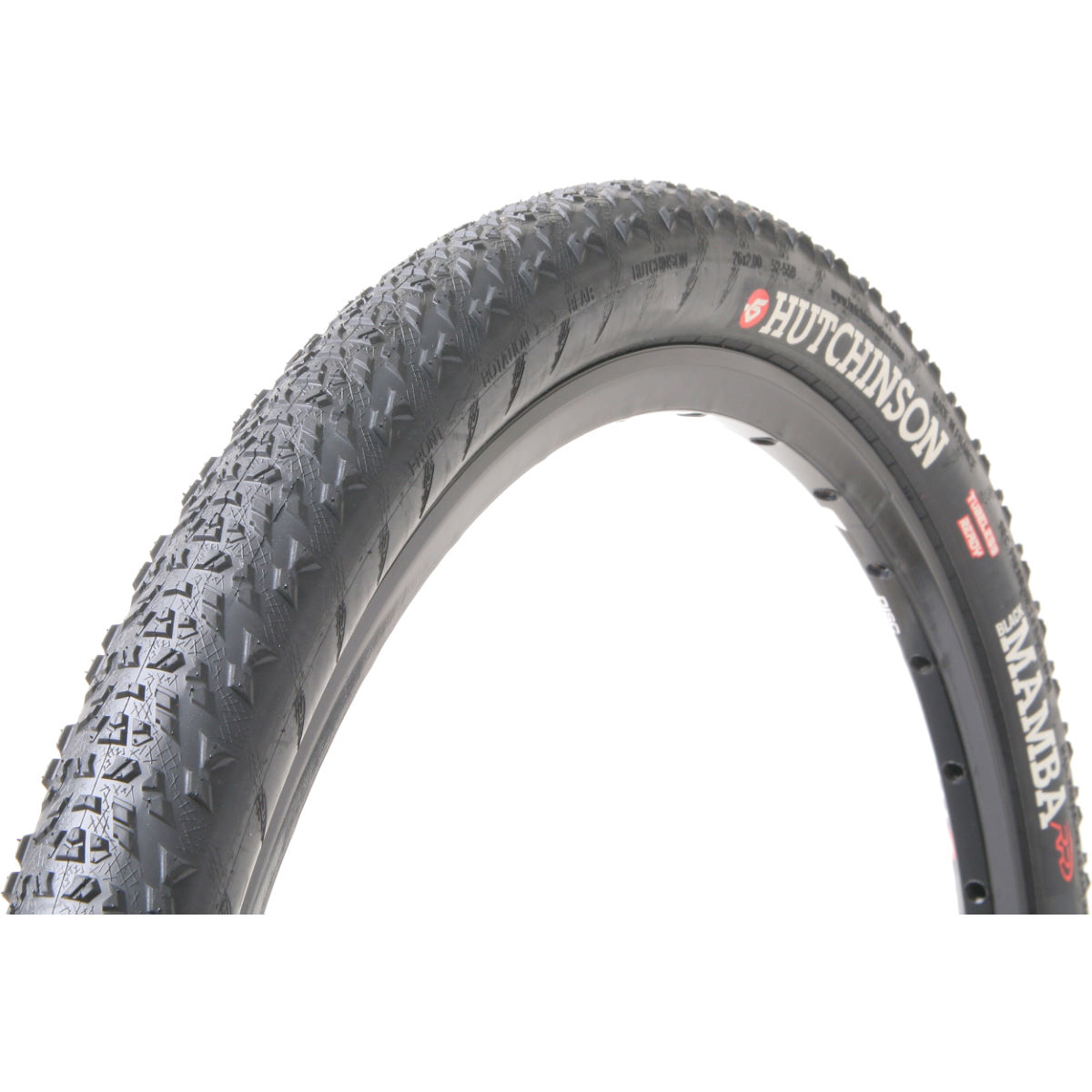 Pneu de cyclo-cross Hutchinson Black Mamba (souple) - 700 x 34c Noir Pneus cyclo-cross
