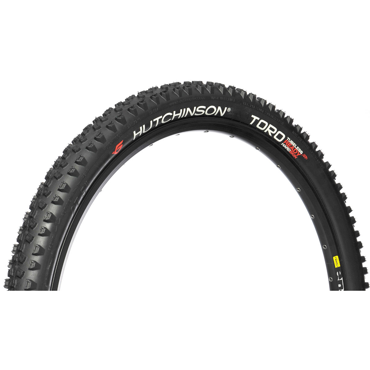 Pneu de cyclo-cross Hutchinson Toro (tubeless, souple) - 700 x 32c Noir Pneus cyclo-cross