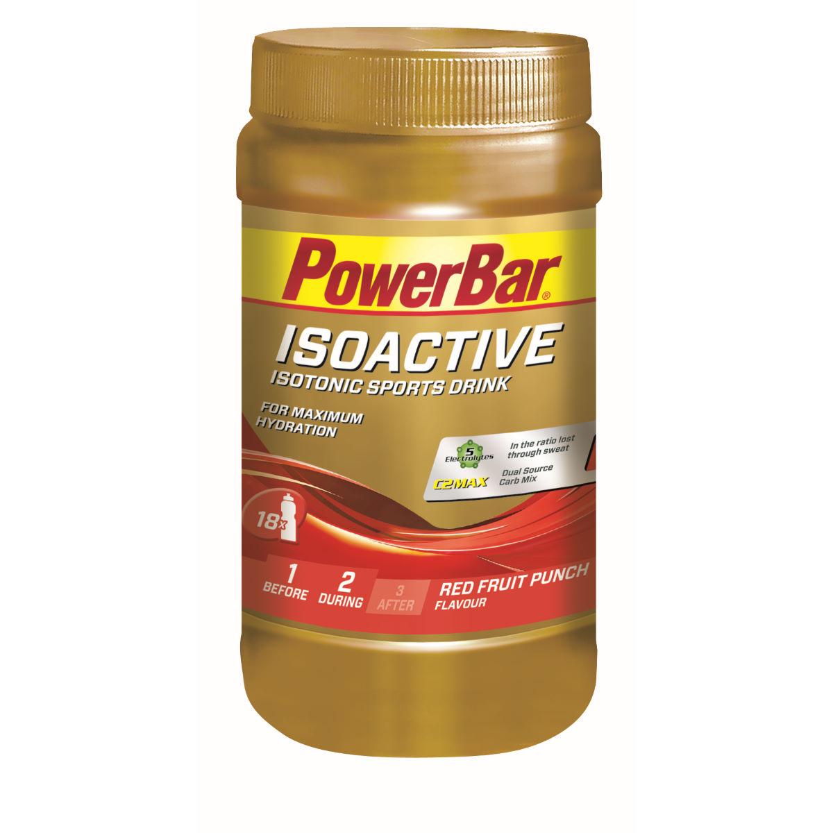 Poudre PowerBar IsoActive (600 g) - 600g 11-20 Red Fruit Punch