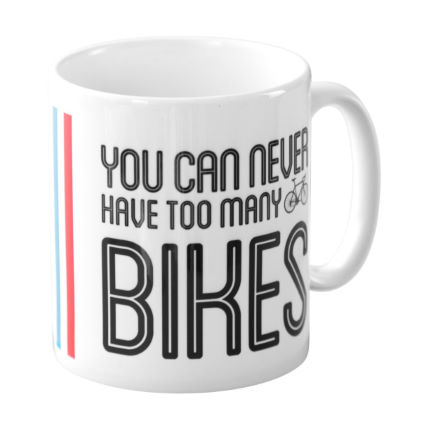 Taza Quirky Gift Library 'Too Many Bikes' (en caja)