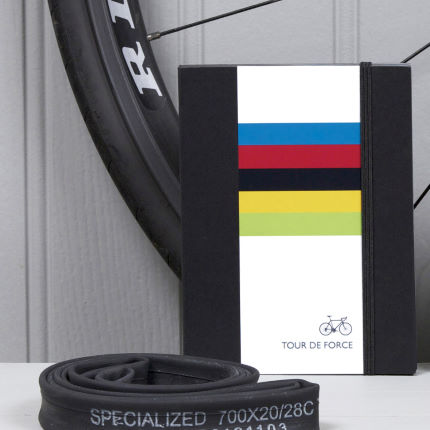 Quirky Gift Library Rainbow Jersey Cycling Notebook