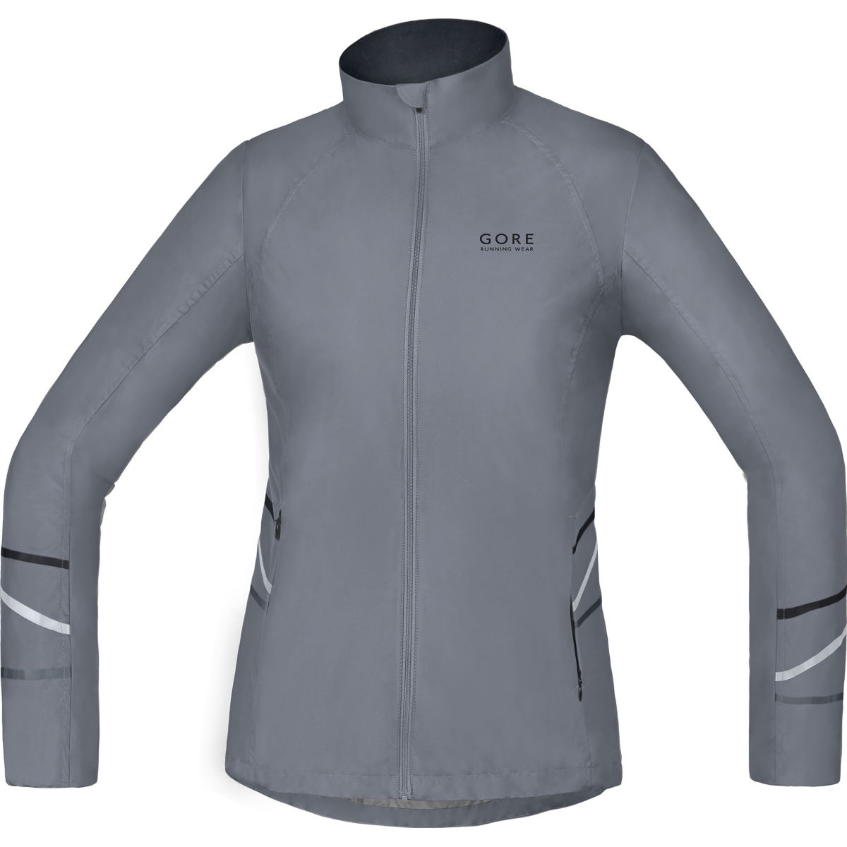 Veste Femme Gore Running Wear Mythos Windstopper Active (PE16) - L Gris Vestes de running coupe-vent