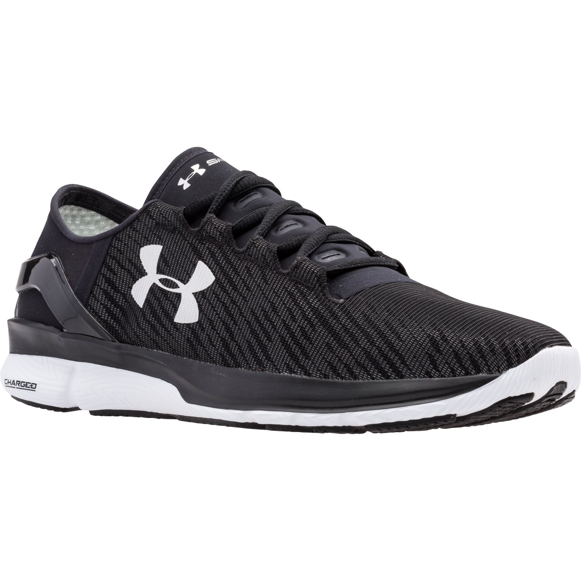 under armour running shoes black and white. under armour speedform turbulence reflective shoes (ss16) running black and white