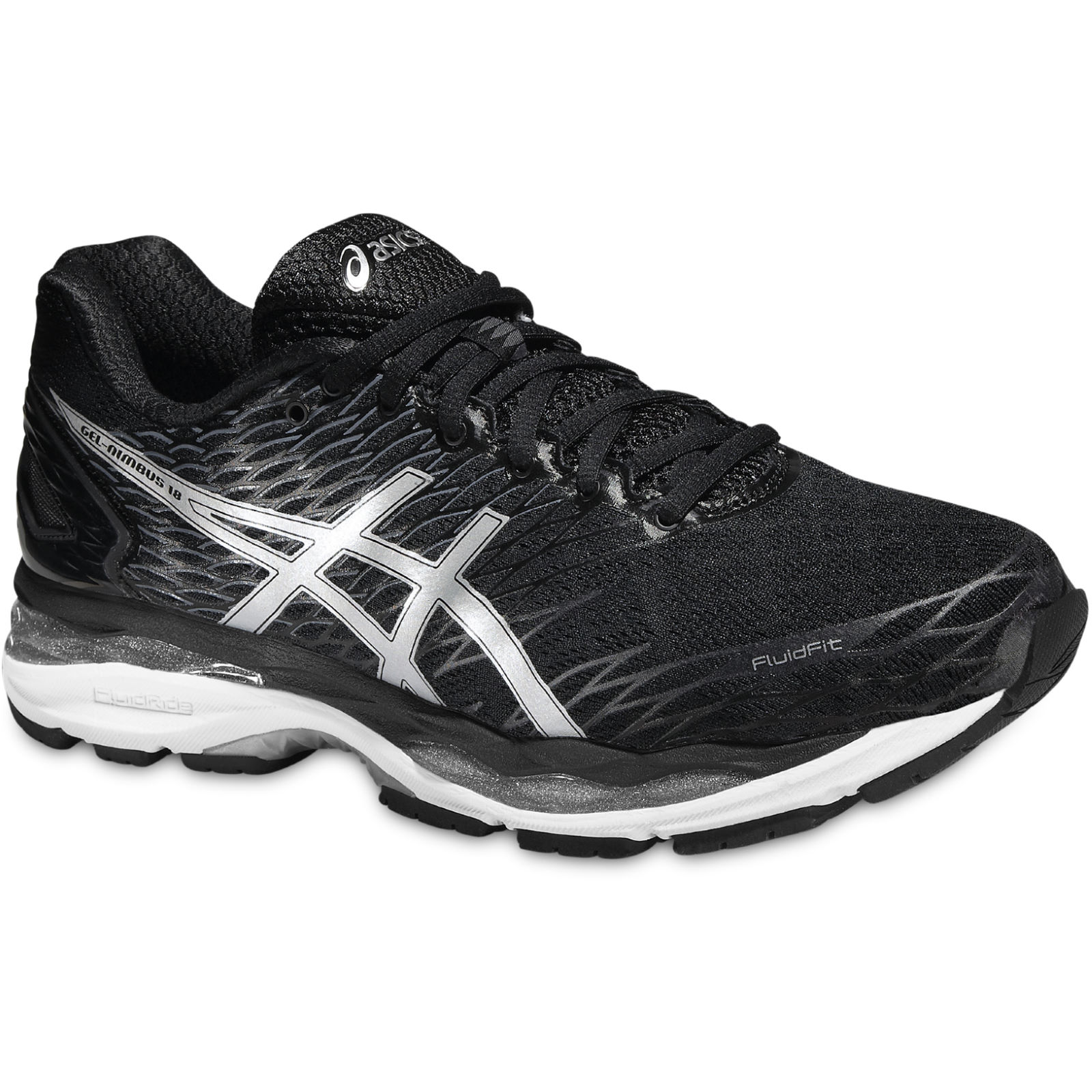 chaussures de running amorties asics gel nimbus 18 shoes black aw16 wiggle france. Black Bedroom Furniture Sets. Home Design Ideas