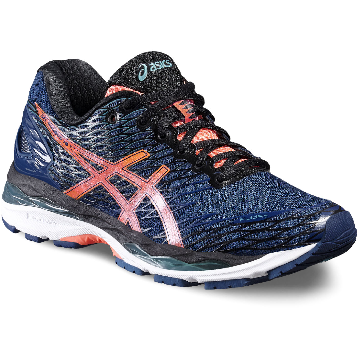 asics nimbus 18 women black
