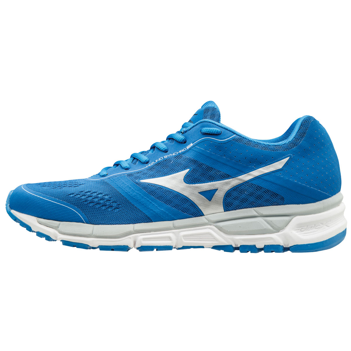 Chaussures Mizuno Synchro MX (PE16) - 12 UK Blue/Silver/High-Ris Chaussures de running amorties