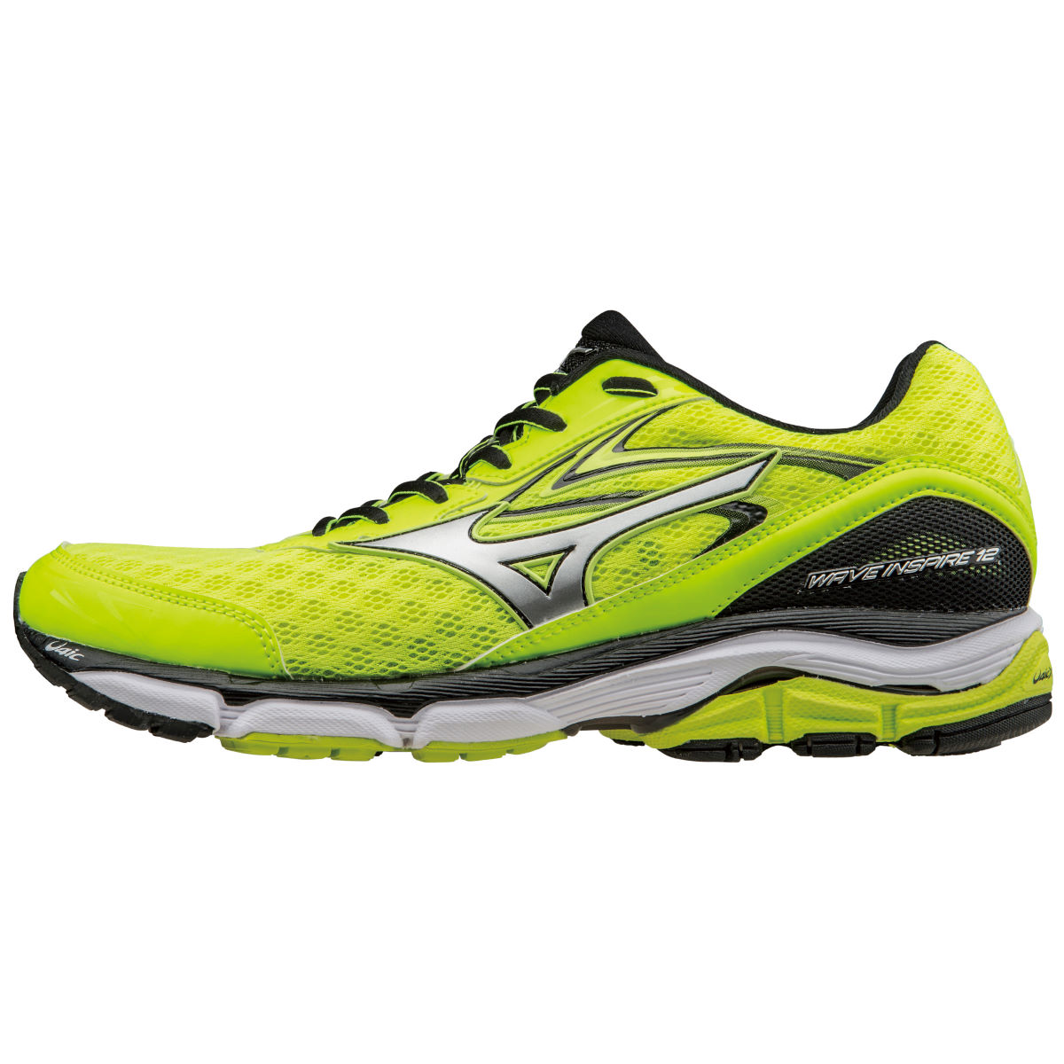 Chaussures Mizuno Wave Inspire 12 (PE16) - 7 UK Yellow/Silver/Black Chaussures de running stables